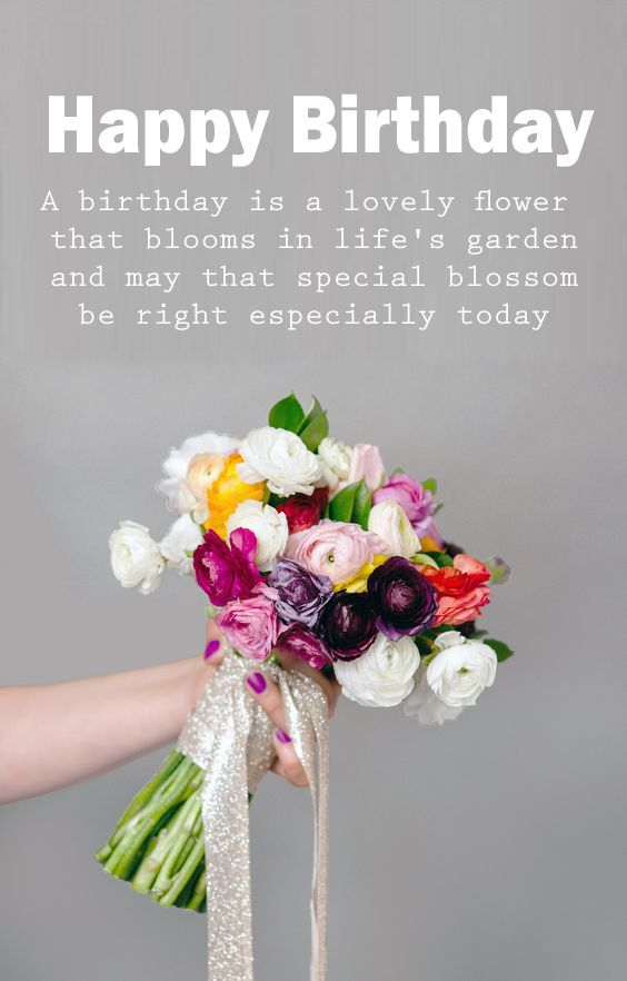 Happy Birthday Bouquet Images With Images Happy Birthday