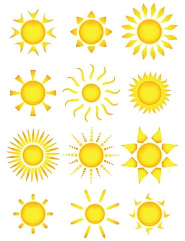 Sun Tattoo Designs. I like the one in the middle in the top row. I would get three for my three sons. :-)