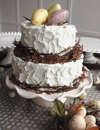 sweet little chocolate Easter cake