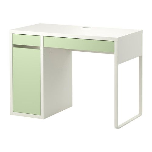 Cable middle and drawers on pinterest - Bureau d angle blanc ikea ...