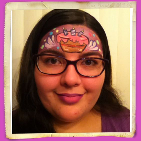 Birthday Cake Face Painting Face Paintings By Kiona