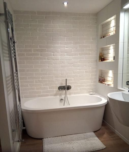 House Painting Tips 3 Creative Ways To Brighten Your Home Feature Walls White Brick Tiles White Brick Tiles Bathroom Brick Bathroom
