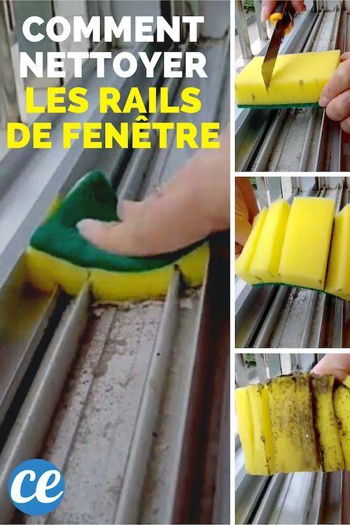 L Astuce De Genie Pour Nettoyer Les Rails De Fenetre En 2 Min