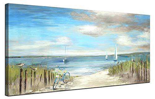 Living Room Wall Frames Beach Themed Wall Art Painting Canvas