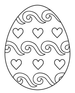 Hundreds of Free and Printable Easter Egg Coloring Pages: Easter Egg Coloring Pages at First Palette