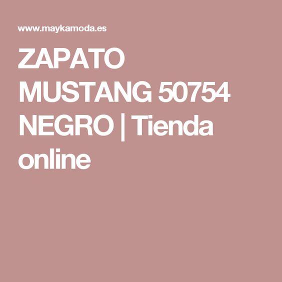 ZAPATO MUSTANG 50754 NEGRO | Tienda online