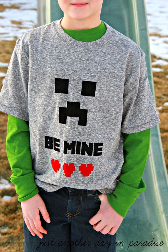 Just Another Day in Paradise: Minecraft Be MINE Valentine T-Shirt