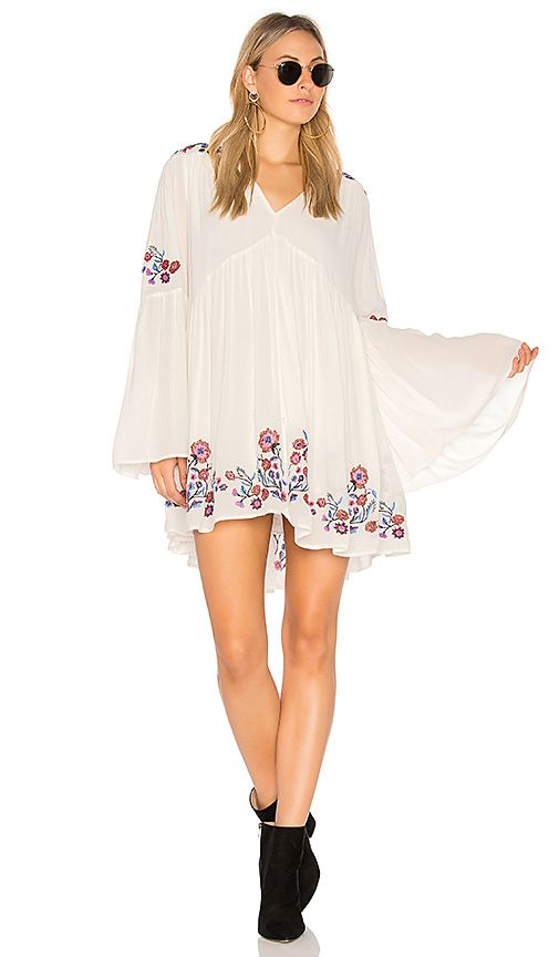 Suchen Nach Free People Te Amo Mini Dress In Neutral Combo At
