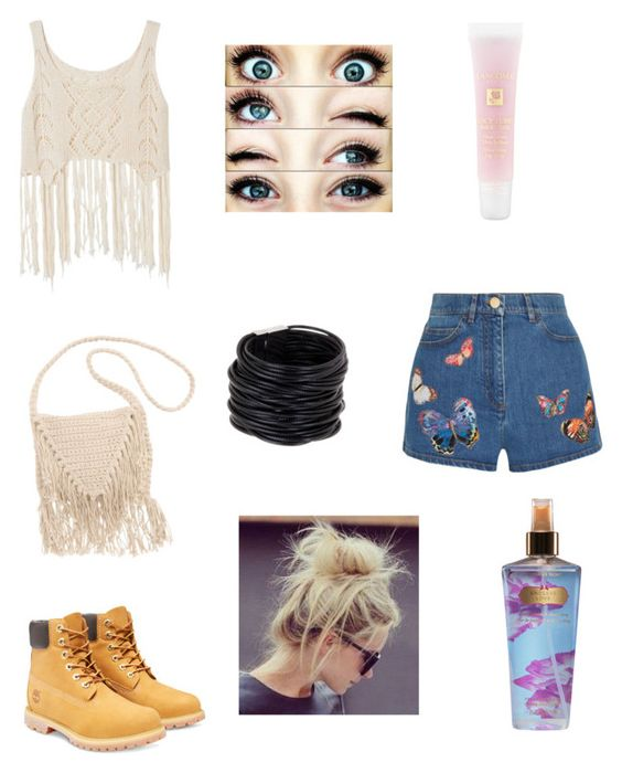 """""""lovely"""" by sajazarma ❤ liked on Polyvore featuring Timberland, Valentino, Billabong, Saachi, Lancôme and Victoria's Secret"""