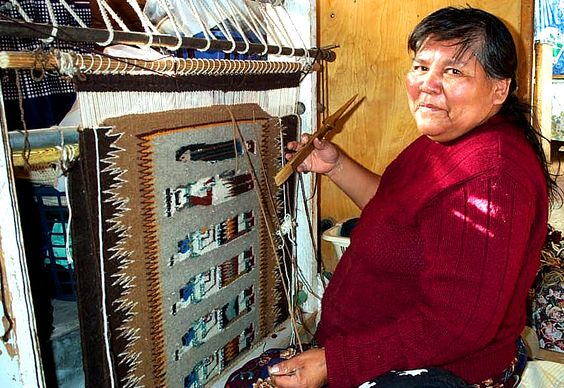 Minnie Rose Begay Quot Is A Known Weaver In Her Community And