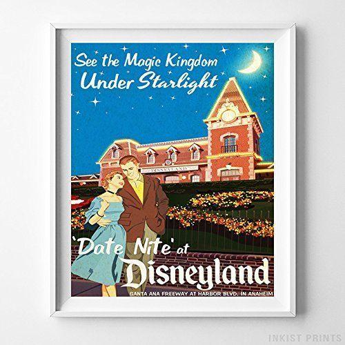 Disneyland Disney World Main Street Wall Art Decor Gift Nursery Kids UNFRAMED