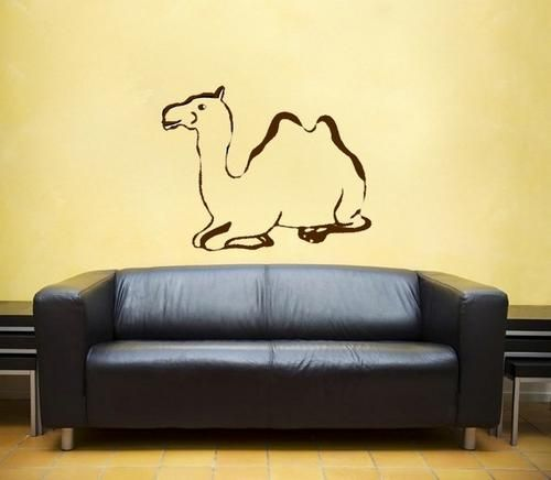 "Camel vinyl Wall DECAL-Middle East interior design home business | EyvalDecal - Housewares on ArtFire Smaller scale (maybe 3-5"" tall) For mid-wall ""border"" in entryway."