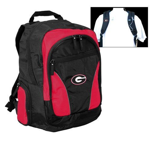 NCAA Georgia Bulldogs Team Backpack by Logo. Save 6 Off!. $33.02. Take your pride to college or wherever you go! Main compartment provides ample storage for books in addition to a padded area that will hold up to a 17-Inch laptop. Pockets for MP3 player, keys, water bottles, pens, etc.