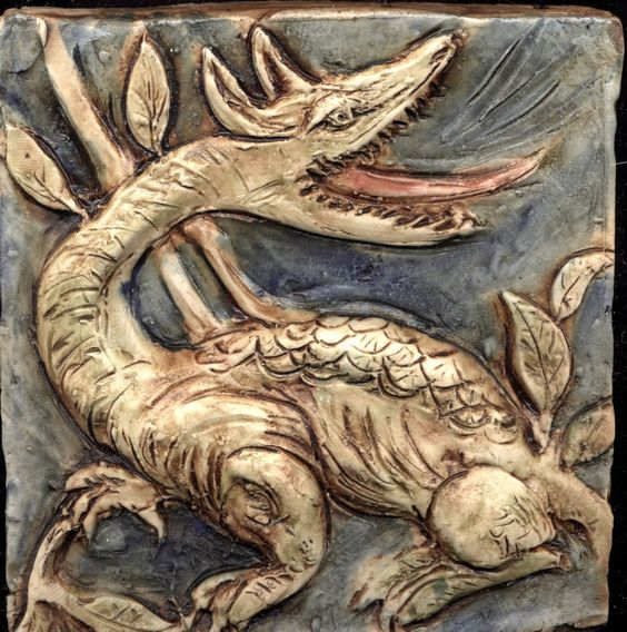 回 Tile o Phile 回 Arts and Crafts Tile -- William De Morgan Inspired:
