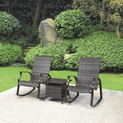 Backyard Creations Mayfair Collection 3 Piece Fire Patio Set At