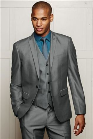 Grey Suit designed with high-shine fabric | Men's Wear | Pinterest
