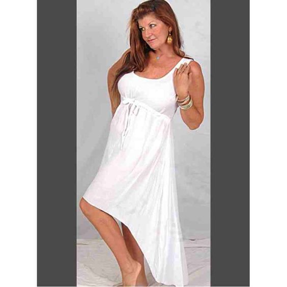 PRE-ORDER - Hi Lo Mini Maxi Empire Dress (White) $53.00 http://www.curvyclothing.com.au/index.php?route=product/product&path=95_97&product_id=9620