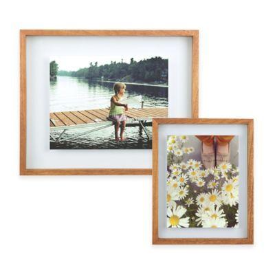 Umbra® Float Wood Picture Frame in Walnut - BedBathandBeyond.com