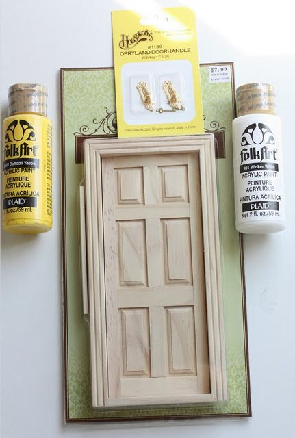 How to make a tooth fairy door what a cute idea i would for Idea behind fairy doors