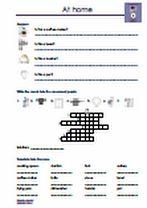 #Vokabeln zum Thema #At #Home - #Zuhause. Verschiedene #Gegenstaende vom #Badezimmer, #Kueche und #Wohnzimmer erkennen und benennen. Kreuzworträtsel, #Puzzle, Wörter vervollständigen, #Wortschlange, #Uebersetzungen, Sätze vervollständigen, Fragen / Antworten schreiben, Lückentexte