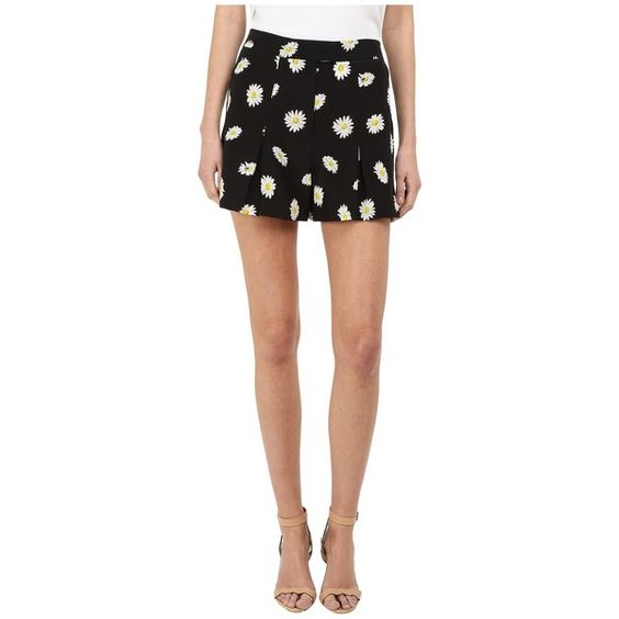 Kate Spade New York Daisy Dot Silk Shorts (Black) Women's Shorts ($228) ❤ liked on Polyvore featuring shorts, black, kate spade, daisy print shorts, dot shorts, loose shorts and mid rise shorts