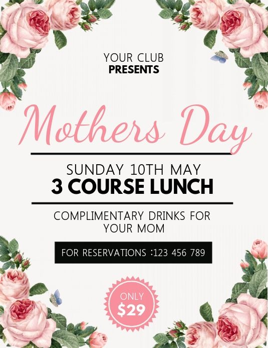 Mother S Day Happy Mother S Day In 2020 Mothers Day Poster Ladies Day Happy Mothers Day
