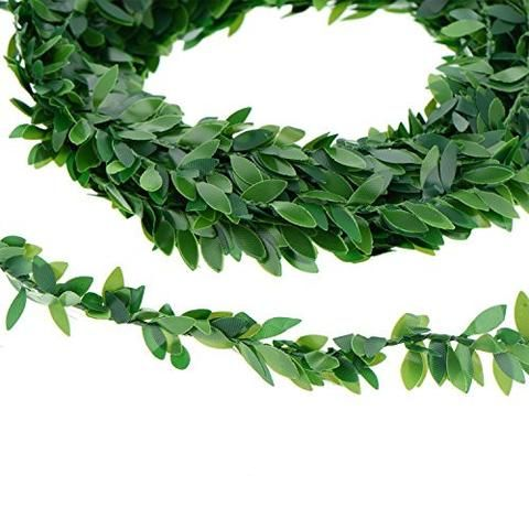 24 6 Yards Artificial Ivy Garland Foliage Green Leaves Fake Vine For Wedding Party Ceremony Diy Headbands Fake Wedding Flowers Diy Headband Vines