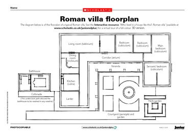 who lived in a house like this? Roman villa online learning game, click link at bottom of page, week 3-4