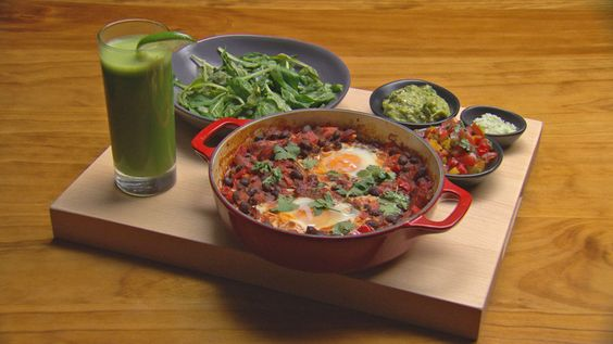 Chipotle Salsa with Eggs and Lime and Coriander Smoothie [Masterchef Australia]