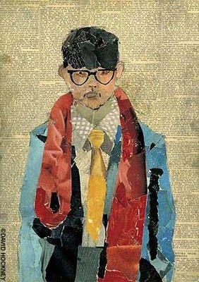 """David Hockney """"Man in Newspaper """",1954.David Hockney was born in Bradford…"""