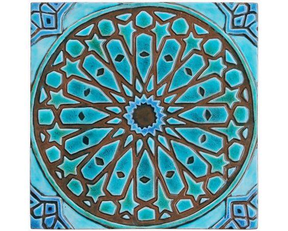 Arte de pared marroqui hecho de cer mica arte exterior for Ceramica pared exterior