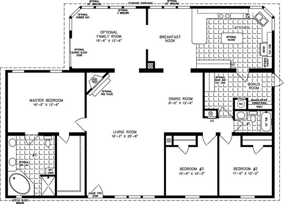 3Bedroom2BathHomeFloorPlans bedrooms 2 baths square feet