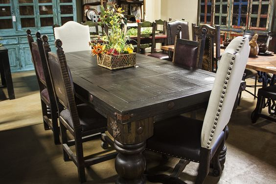 Wormwood Dining Table Tooled Leather Side Chairs Interested In - Chantilly distressed dining table by little tree furniture