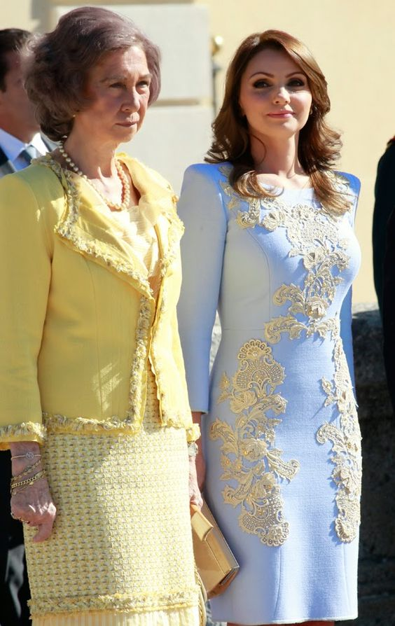 State visit from Mexico to Spain | MYROYALS HOLLYWOOD FASHİON-Queen Sofia and First Lady Angelica Rivera, June 9, 2014