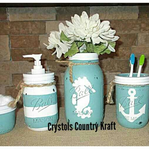 Teal Turquoise Bathroom Set Nautical Bathroom Decor Anchor