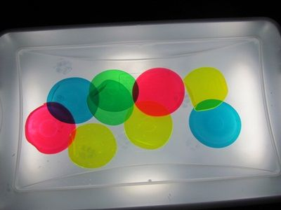 DIY light table for children to learn about color through play!