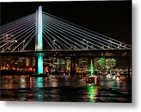 Christmas Ships Metal Print by Steven Clark in 2020 | Christmas