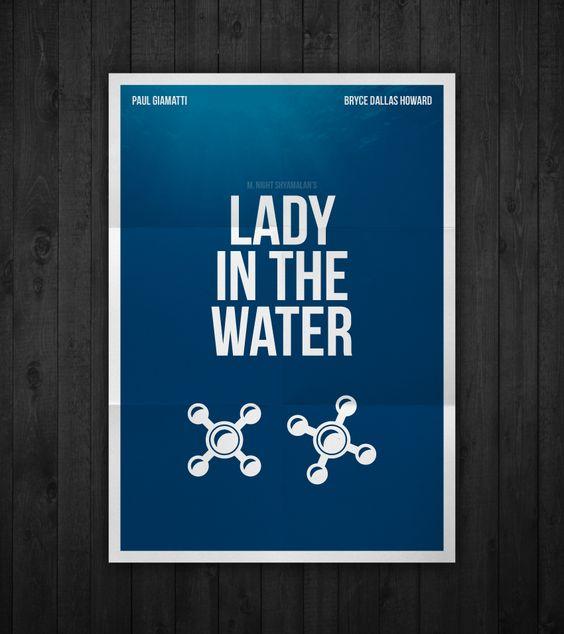 Semi-minimal movie poster of Lady In The Water by Rubenski Gooljar