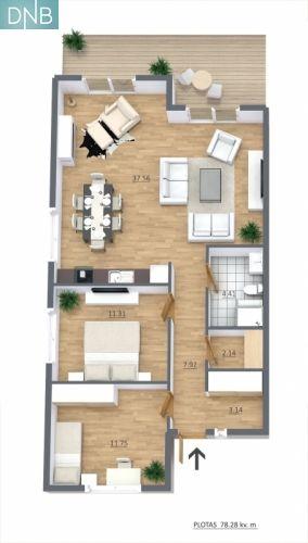 Parduodamas 80 kv.m. vieno aukšto dvibutis namas kiekvienai pusei priklauso po 3.8 a. žemės sklypo, Pakarklės g. Romainiai, Kaunas | Nekilnojamas turtas | DNB būstas