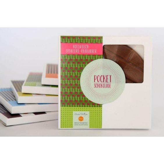 Pocketschokolade Vollmilch Erdbeer-Rhabarber