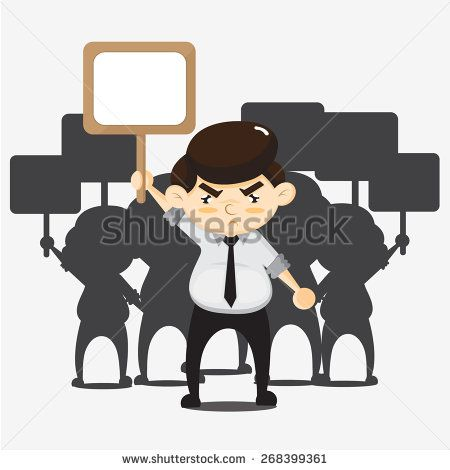 Employees protests - stock vector