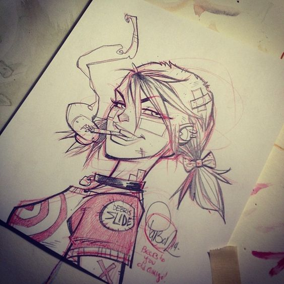 """""""Free Tank Girl sketch?… Just post your favorite image of the ol girl, tell everyone about the kickstarter and tell em where to go (link in my profile), hashtag #tankgirlparty and #blitzcadet.. Ill..."""