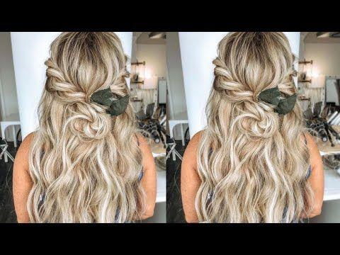 Bridalhair Easy Half Up Half Down Braided Bohemianhair Wedding Hairstyle 2021 Hairbykaytlyn Youtub In 2020 Hair Styles Wedding Hairstyles Curly Wedding Hair