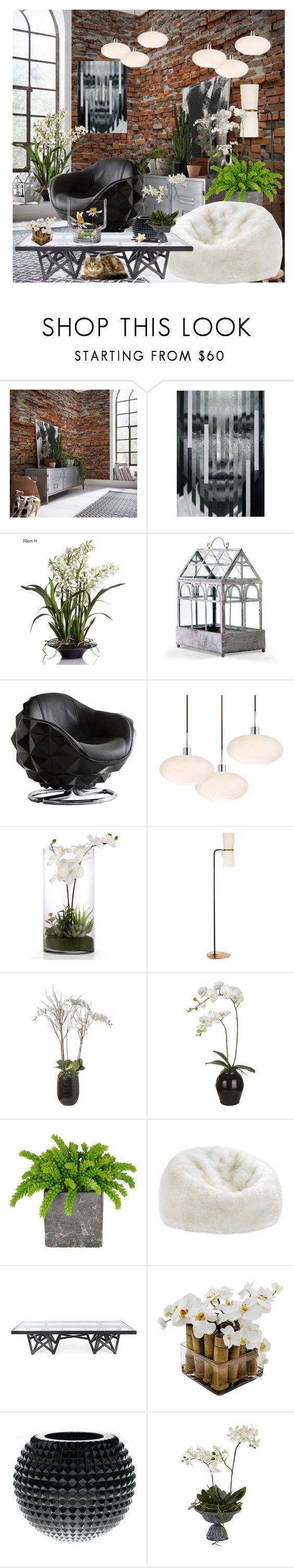 """The orchid Room"" by frenchfriesblackmg ❤ liked on Polyvore featuring interior, interiors, interior design, home, home decor, interior decorating, Komar, EMAC & LAWTON, Cyan Design and Andrew Martin"