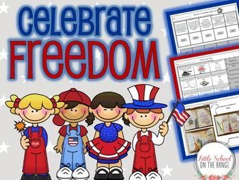 Completely REVISED with new hands-on activities added for 2016!This no-prep unit is perfect for teaching your students about all of the freedoms we enjoy! It is full of hands on learning activities. Is can be used during Celebrate Freedom Week, Memorial D
