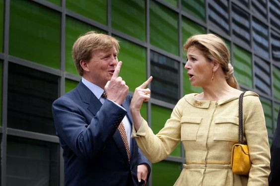 King Willem-Alexander and Queen Maxima. Funny.