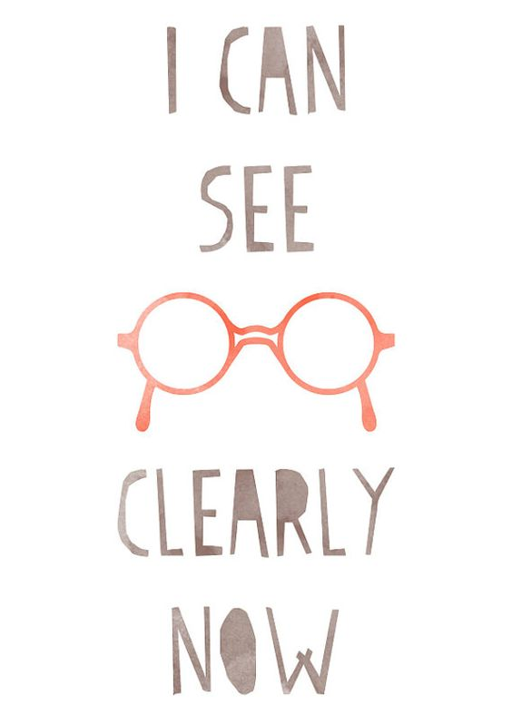 I can see clearly now.