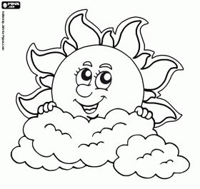 sun and clouds coloring pages - photo#26
