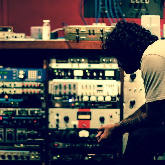 Beto mixing F#UCK IT. #recording #studiosession #tattoo #albini #punkrock #producers