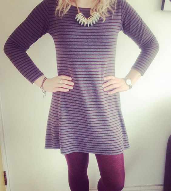 Day 11 - Me Made May, Coco Dress by @tillybuttons in Striped Ponte Roma from @guthrieghani #memademay2016 #guthrieghani #lovetosew #cocodress #tillyandthebuttons #handmadeisbetter #sewingwithknits